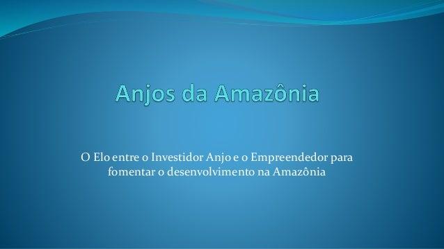 O Elo entre o Investidor Anjo e o Empreendedor para fomentar o desenvolvimento na Amazônia