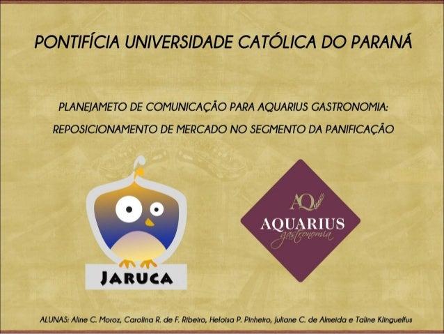 Apresentação   aquarius gastronomia