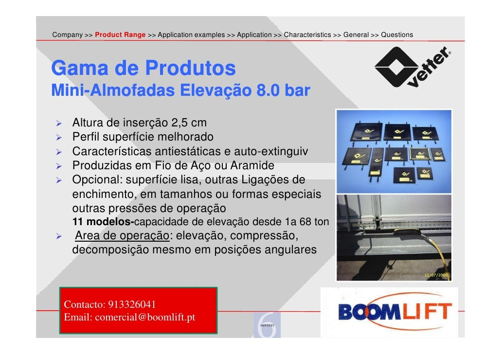 lifting bags - boom lift - Aplications Slide 2