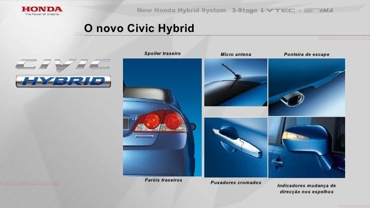 Honda Civic Hybrid Bateria >> ApresentaçãO Civic Hybrid