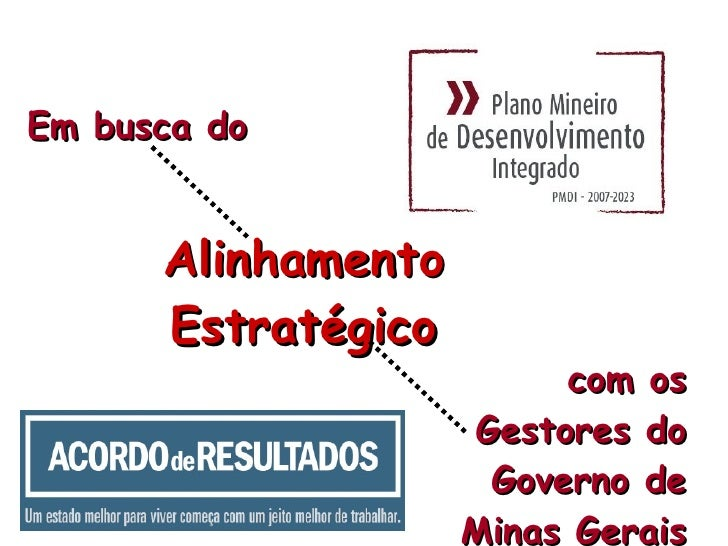 Em busca do Alinhamento Estratégico com os Gestores do Governo de Minas Gerais