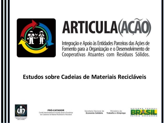 Estudos sobre Cadeias de Materiais Recicláveis