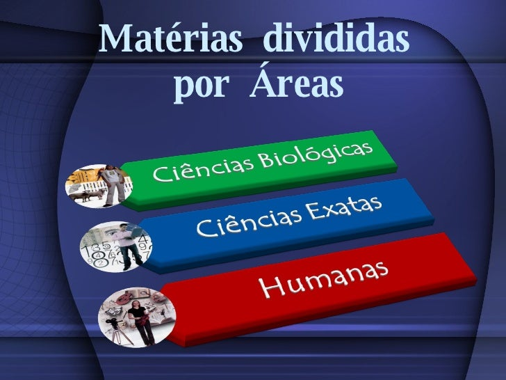 Matérias  divididas  por  Áreas