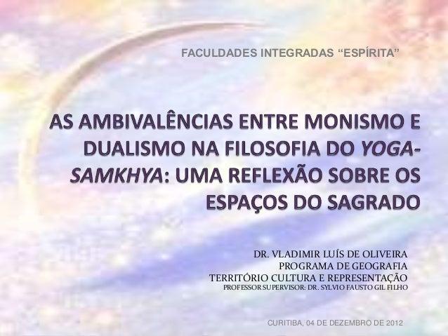"""FACULDADES INTEGRADAS """"ESPÍRITA""""           DR. VLADIMIR LUÍS DE OLIVEIRA                PROGRAMA DE GEOGRAFIA    TERRITÓRI..."""