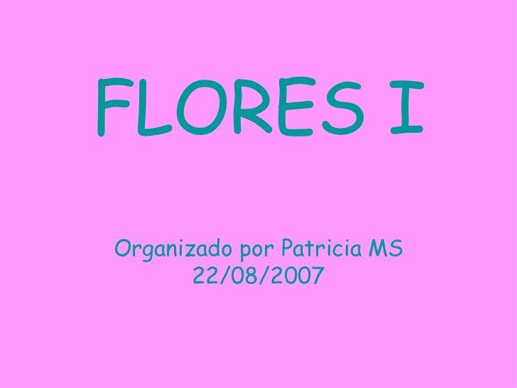FLORES I Organizado por Patricia MS 22/08/2007