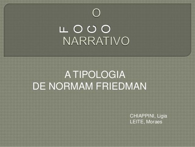 O    O    C    F     A TIPOLOGIADE NORMAM FRIEDMAN               CHIAPPINI, Ligia               LEITE, Moraes