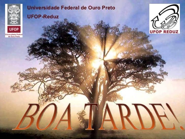 BOA TARDE! Universidade Federal de Ouro Preto UFOP-Reduz