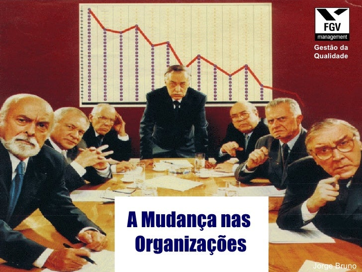 A Mudança nas  Organizações Jorge Bruno Gestão da Qualidade