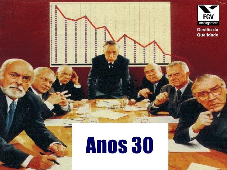 Anos 30 Gestão da Qualidade
