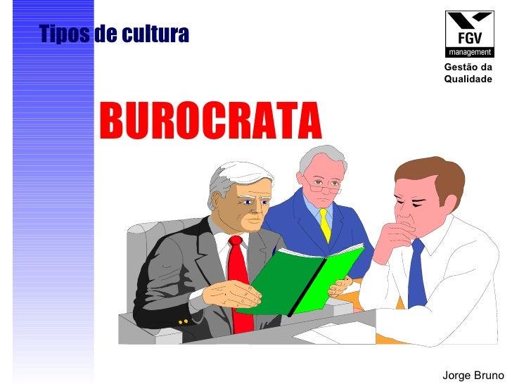 BUROCRATA Tipos de cultura Jorge Bruno Gestão da Qualidade