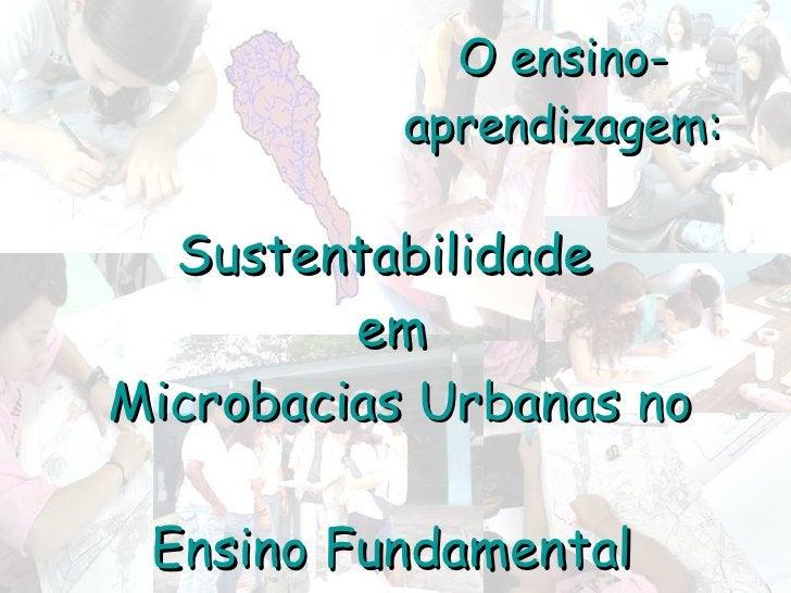 Sustentabilidade  em  Microbacias Urbanas no  Ensino Fundamental O ensino-aprendizagem: