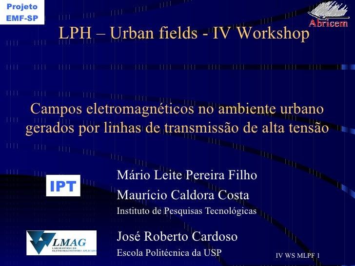 Campos eletromagnéticos no ambiente urbano gerados por linhas de transmissão de alta tensão Mário Leite Pereira Filho Maur...