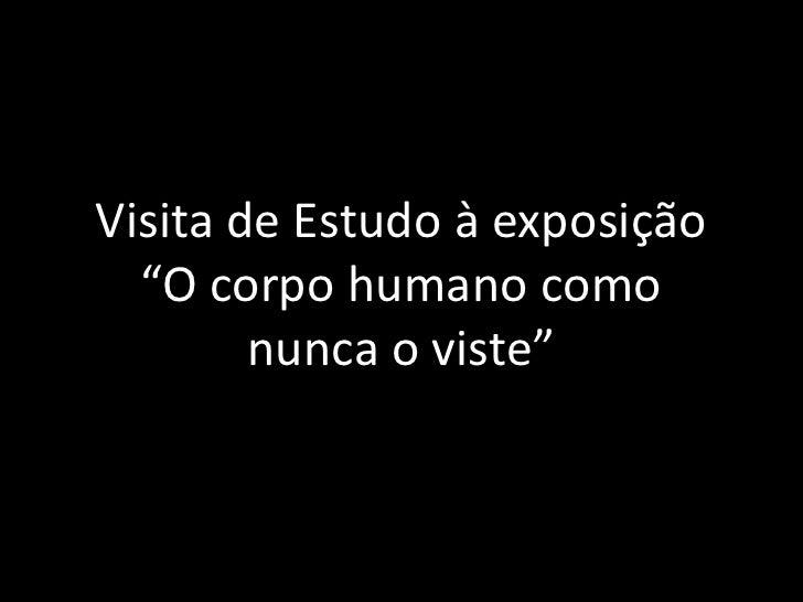 """Visita de Estudo à exposição """"O corpo humano como nunca o viste""""<br />"""