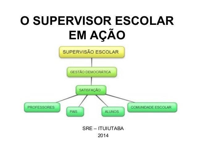 O SUPERVISOR ESCOLAR EM AÇÃO SRE – ITUIUTABA 2014