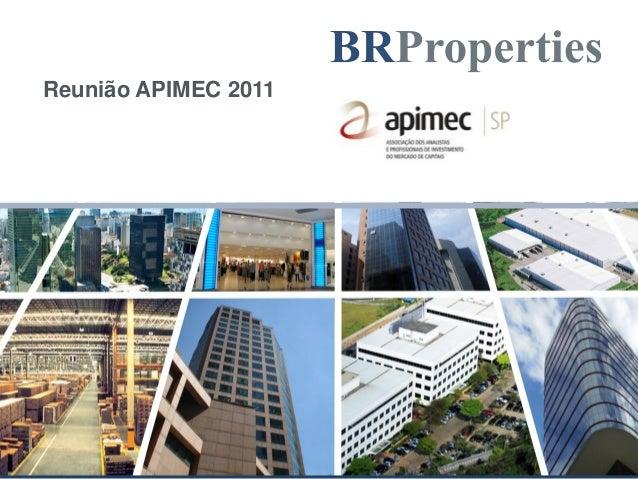 Reunião APIMEC 2011