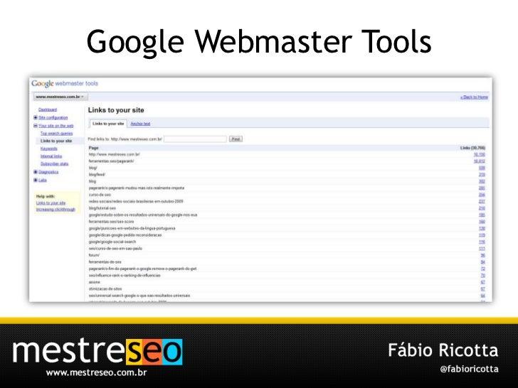 Google Webmaster Tools<br />