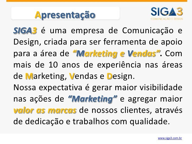SIGA3 - APRESENTACAO Slide 2
