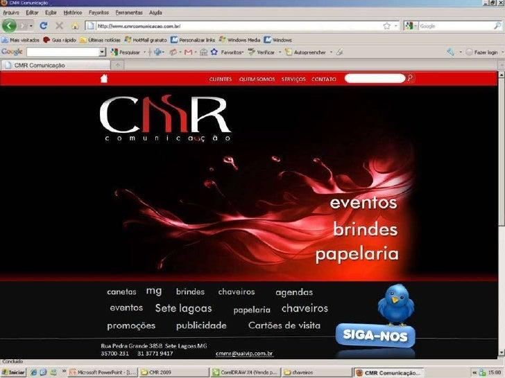 Layout site CMR Comunicação
