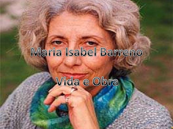 Maria Isabel Barreno<br />Vida e Obra<br />
