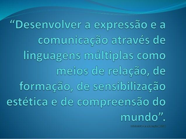 Aspectos positivos  Permite entrar em contacto com uma maior diversidade de linguagens. Ex: Escrita, oral, gráfica,…  Pe...