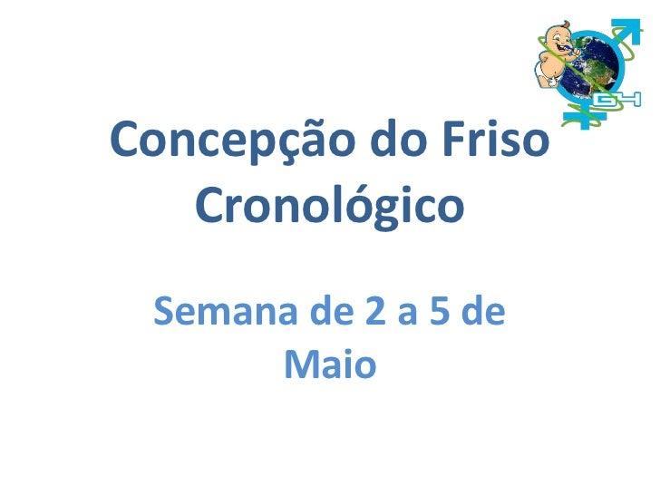 Concepção do Friso Cronológico<br />Semana de 2 a 5 de Maio<br />