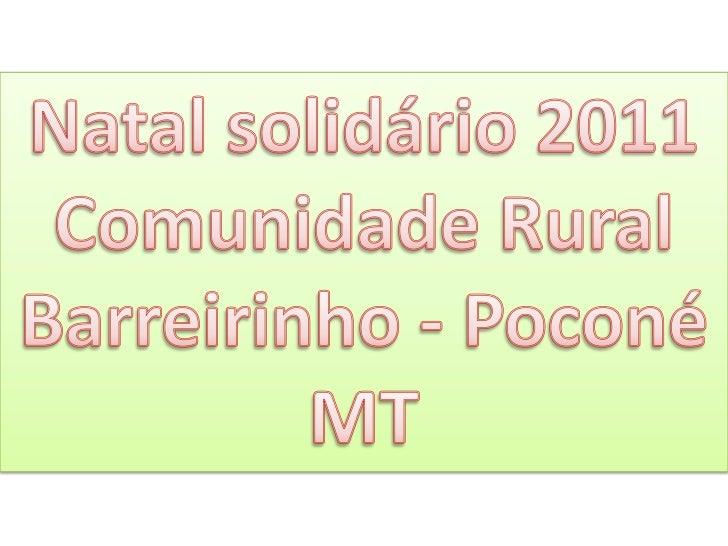Natal solidário 2011