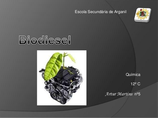 Escola Secundária de Arganil                           Química                               12º C                Artur Ma...
