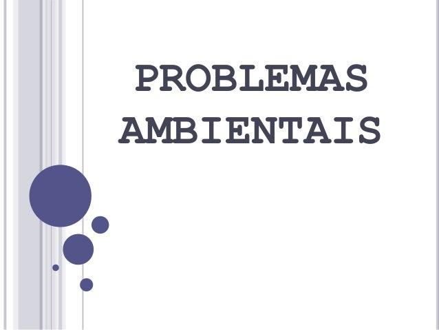 PROBLEMASAMBIENTAIS