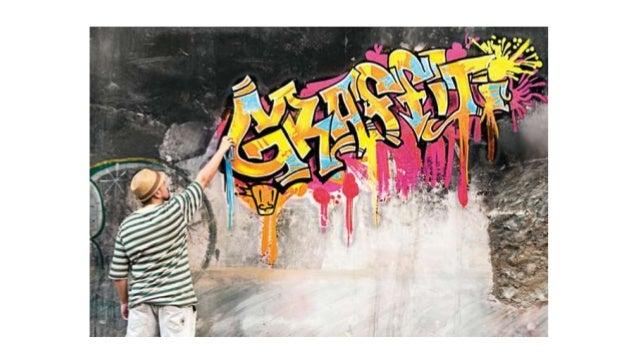 O grafite é uma arte em forma demanifestação em espaços públicos,é uma arte legal diferente dapichação que é ilegal