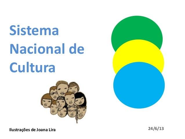 SistemaNacional deCulturaIlustrações de Joana Lira 24/6/13