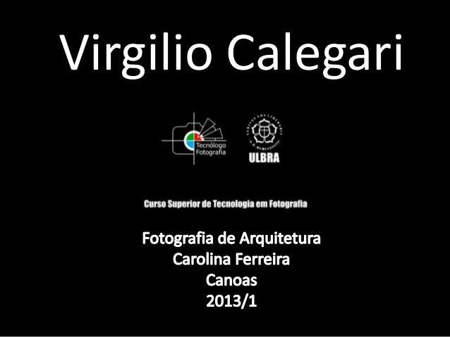 Virgilio Calegari