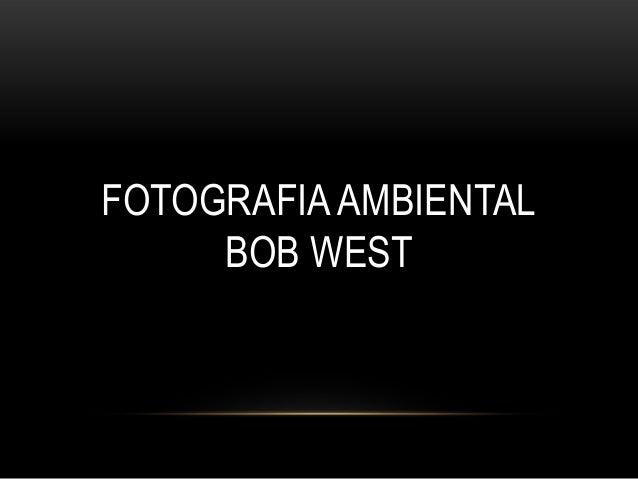 FOTOGRAFIA AMBIENTAL BOB WEST