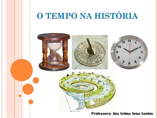 O TEMPO NA HISTÓRIA Professora: Ana Selma Sena Santos