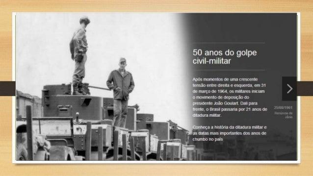 Apresentação Power Point do professor Wander. Ditadura no Brasil