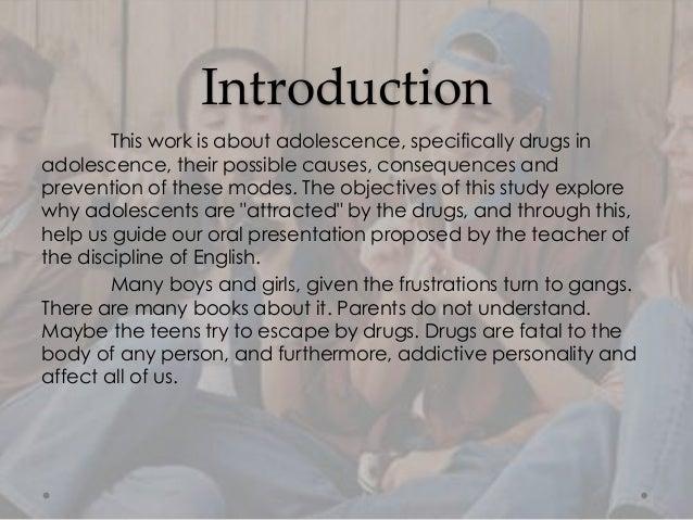 Drugs in Adolescence Slide 3