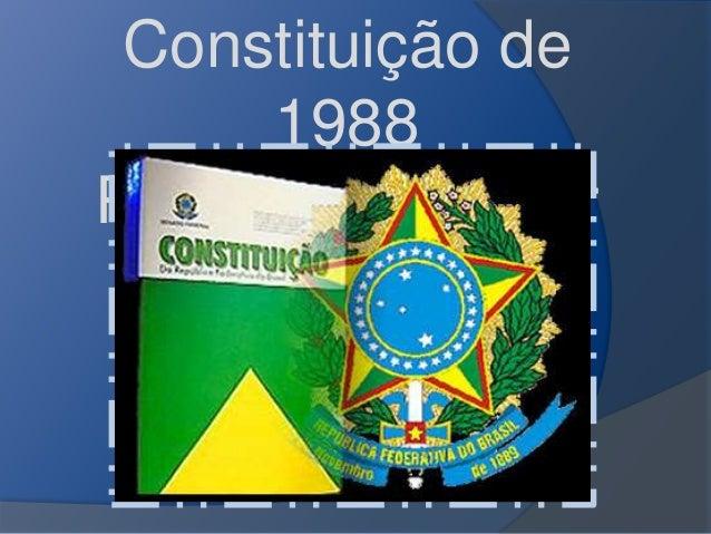 Constituição de  1988  Prof.Altair Aguilar