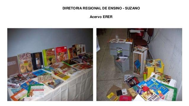 Slide 1 DIRETORIA REGIONAL DE ENSINO - SUZANO Acervo ERER