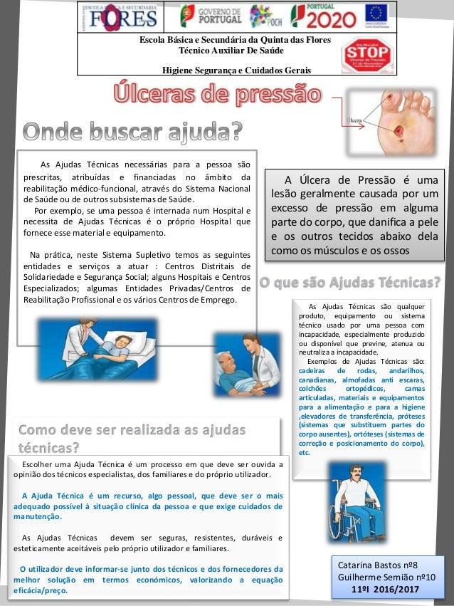 Escola Básica e Secundária da Quinta das Flores Técnico Auxiliar De Saúde Higiene Segurança e Cuidados Gerais As Ajudas Té...
