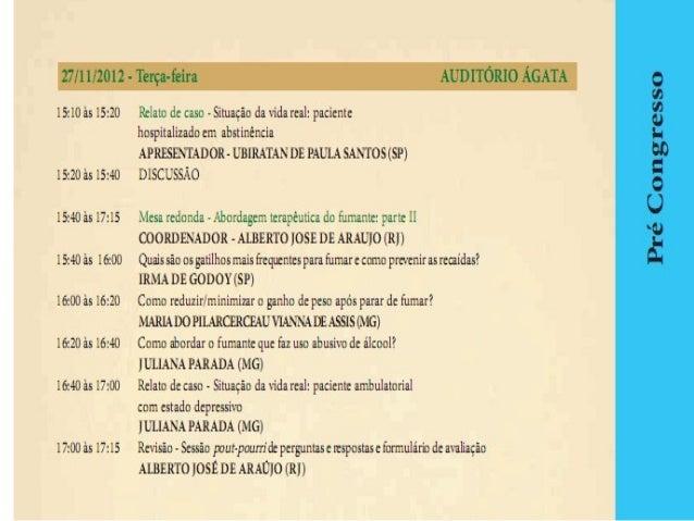 CONGRESSO BRASILEIRO DE PNEUMOLOGIA 2012