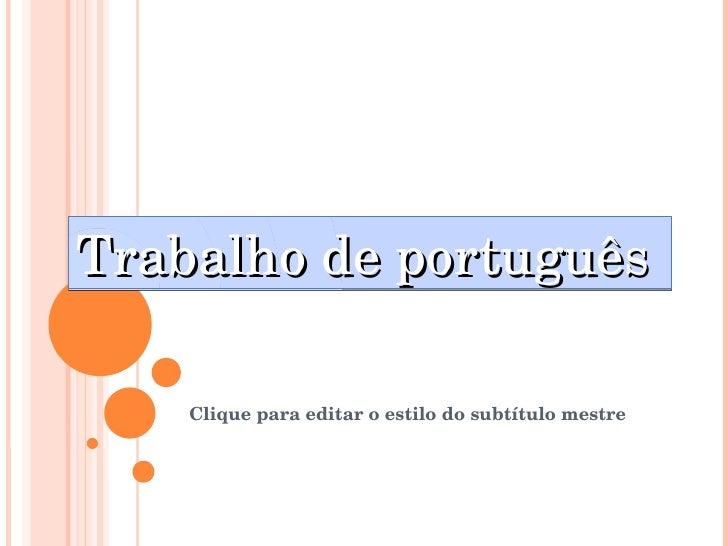 Trabalho de português
