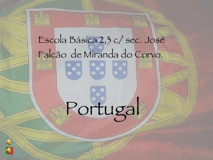 Escola  Básica  2,3 c/ sec. José  Falcão  de Miranda do Corvo. Portugal
