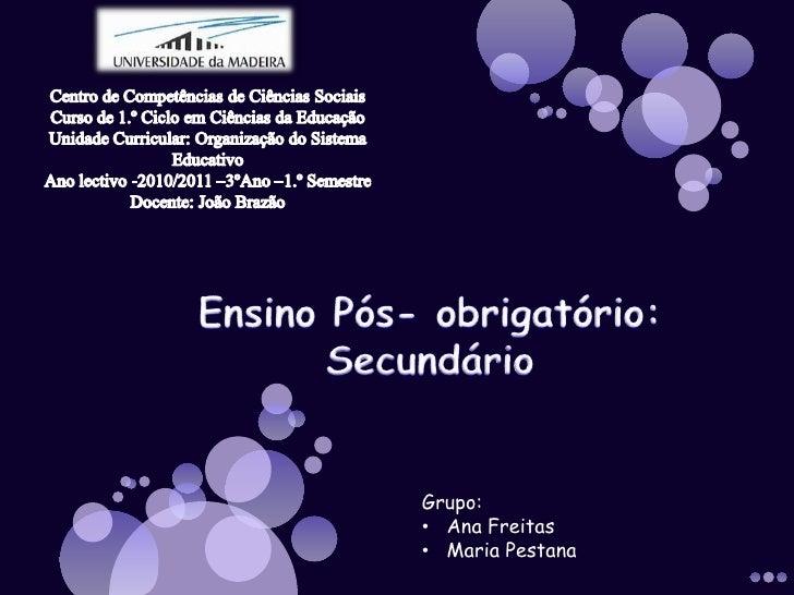 Centro de Competências de Ciências Sociais<br />Curso de 1.º Ciclo em Ciências da Educação<br />Unidade Curricular: Organi...