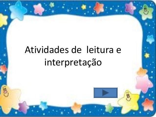 Atividades de leitura e interpretação