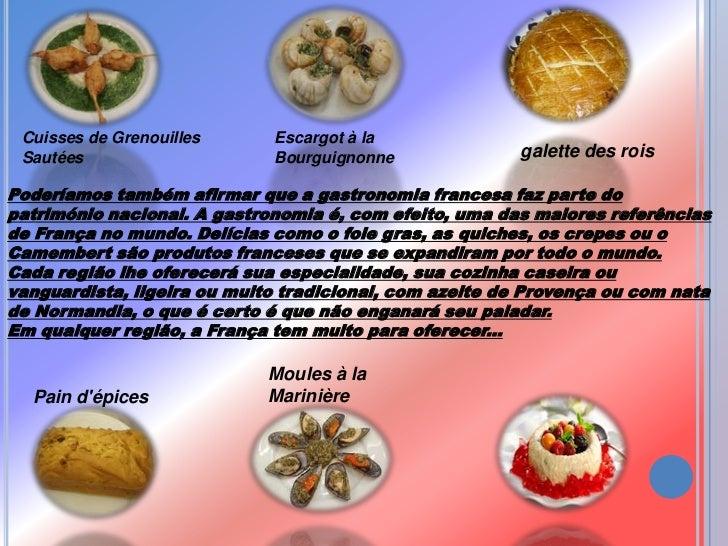 Apresenta o1gastronomia francesa for Comida nacional de francia