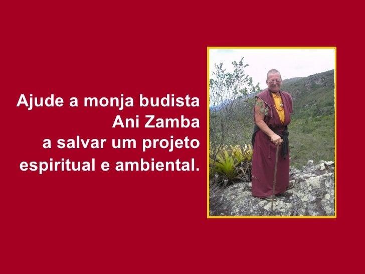 Ajude a monja budista Ani Zamba a salvar um projeto espiritual e ambiental.