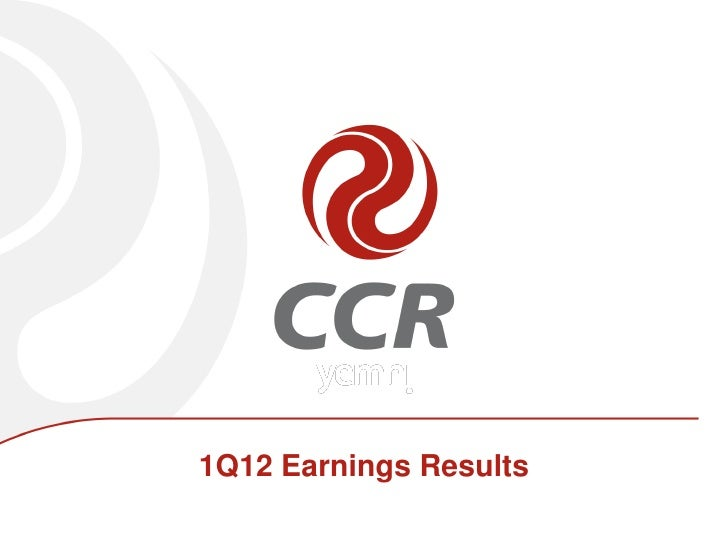 1Q12 Earnings Results