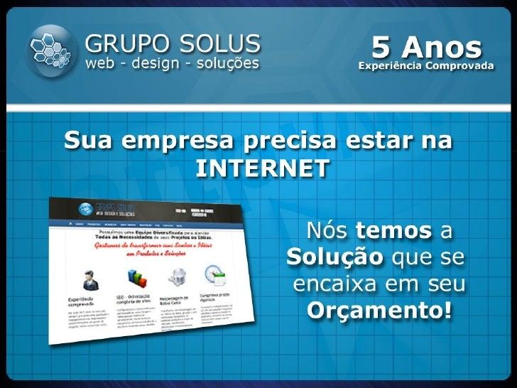 Apresentação - Web Mídia Kit 3.0 - Grupo Solus