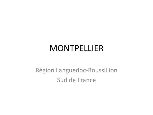 MONTPELLIER Région Languedoc-Roussillion Sud de France
