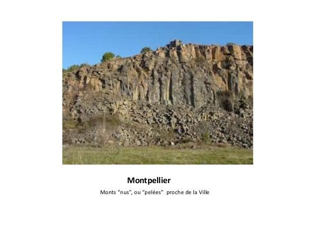 """Montpellier Monts """"nus"""", ou """"pelées"""" proche de la Ville"""