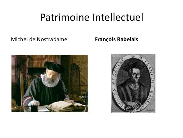 Patrimoine Intellectuel Michel de Nostradame  François Rabelais